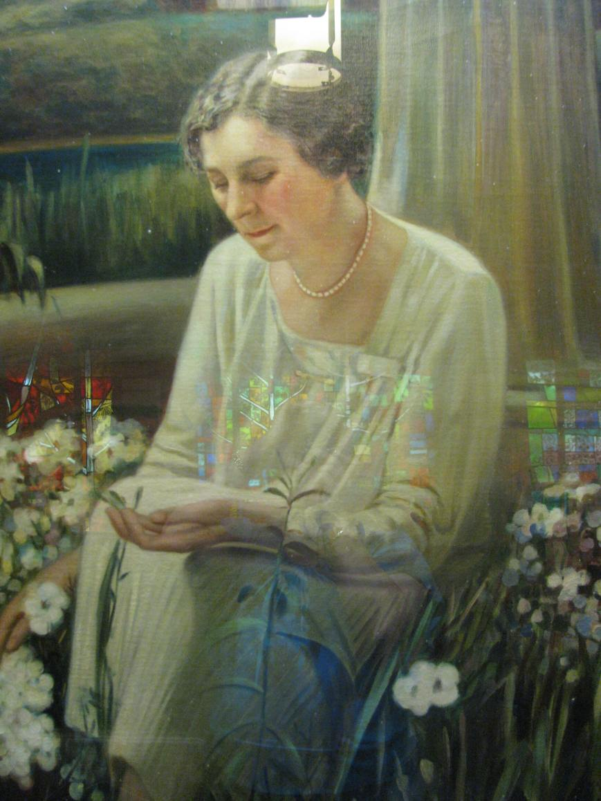 Ida Callaway, whose inspiration initiated the gardens, has her portrait hanging in the chapel..