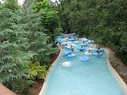 Most hotels have a water feature of some sort, like this lazy river.