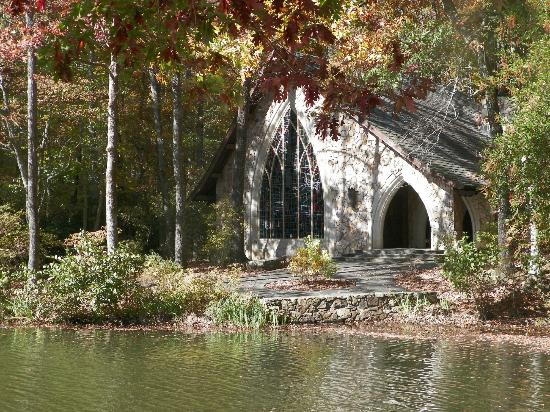 The chapel is a spot you don't want to miss as you drive through.  You can spot it across the lake before you make the turn to drive up close.