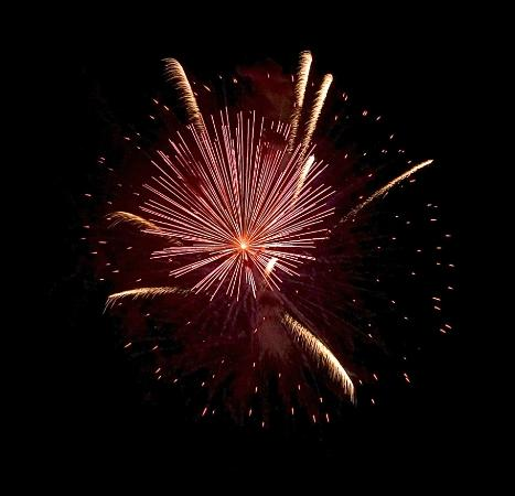 Independence Day brings the fireworks display on the beach, which you can look DOWN on from the mountaintop.