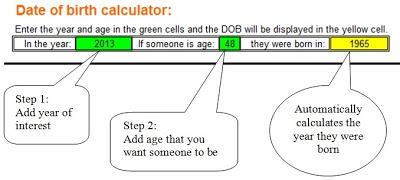 timeline DOB calculator