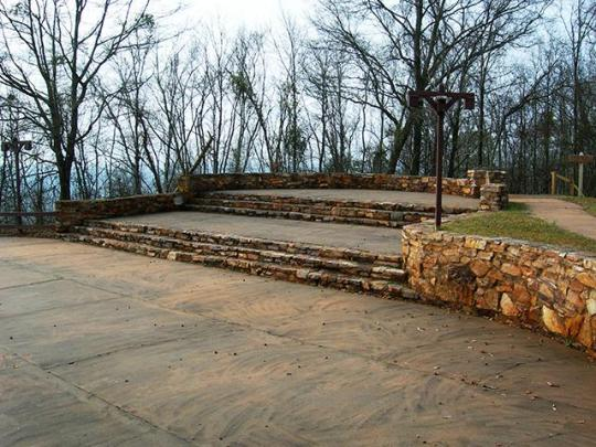 The amphitheater next to the Inn, where local youth held nighttime dances during the 30-60s.