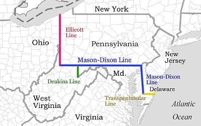 line map between Penn. and Maryland