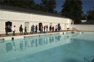 Warm mineral springs at The Roosevelt Baths