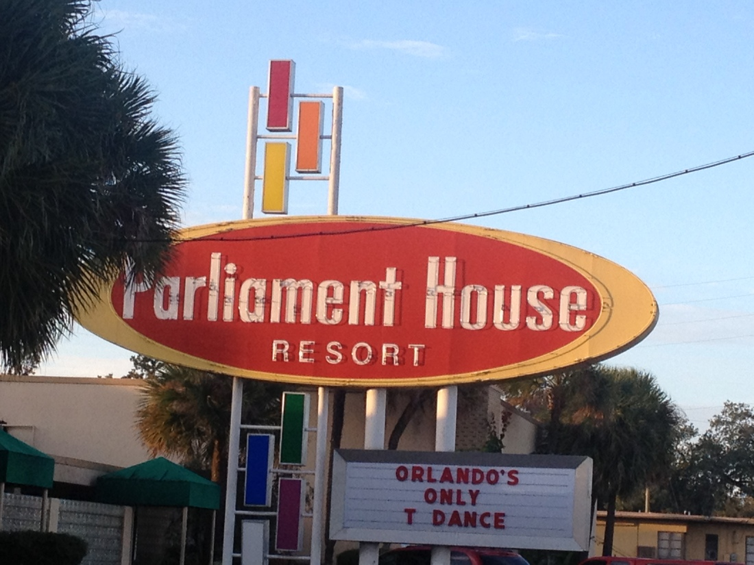 Parliament House resort entrance by day.