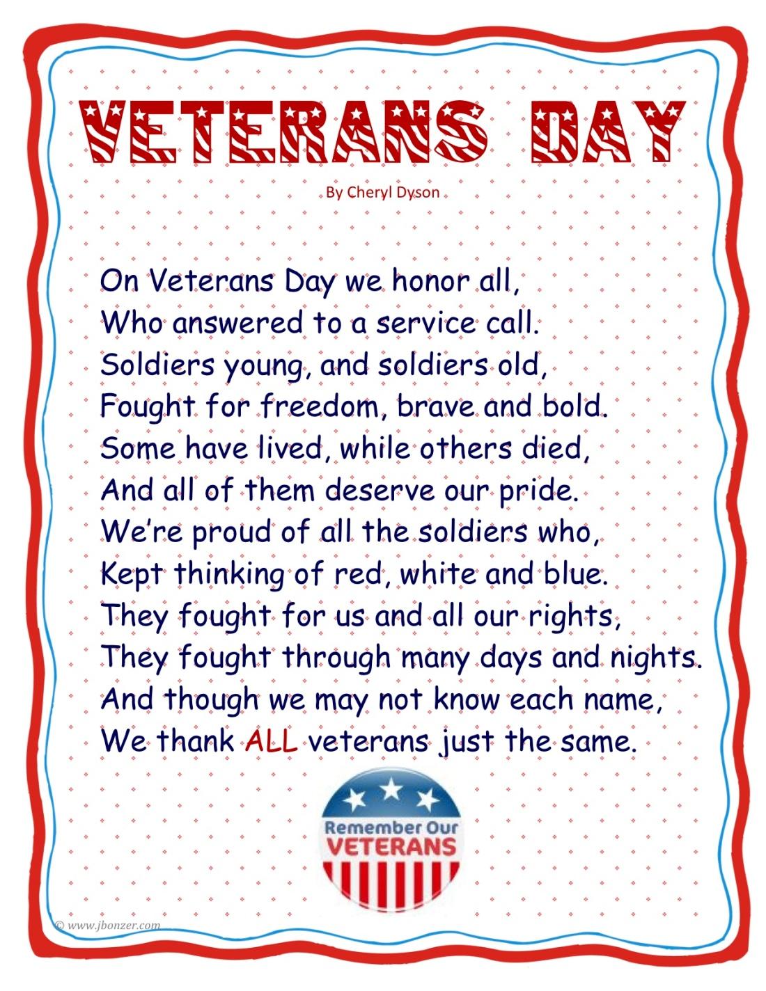 VeteransDayPoembyjudybonzer