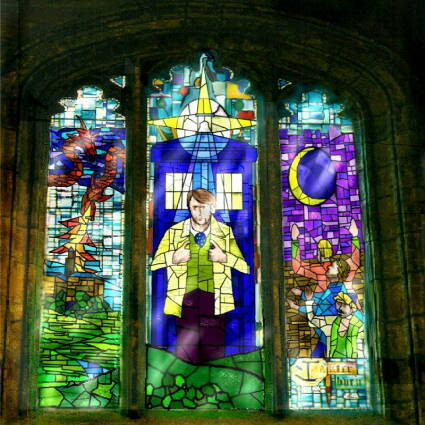 Doctor-Who-stained-glass