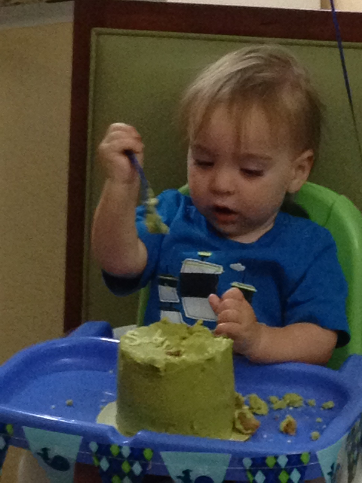 Had to slip this one in of the grandson with his smash cake.