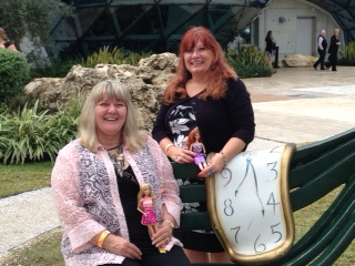 Pamela and I at the Dali with our dollies.
