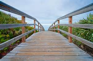 Find a boardwalk across the dunes and before long...