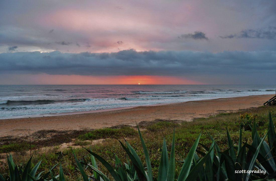 This morning's beach shot by Scott Spradley.
